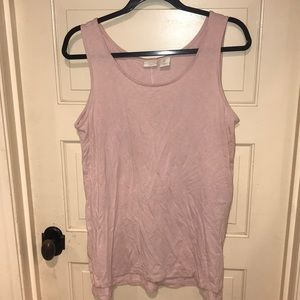 St. Tropez West Light Pink sleeveless blouse Top L